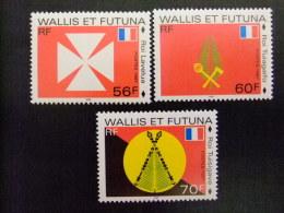 WALLIS ET FUTUNA WALLIS Y FUTUNA 1997 DRAPEAUX Des MONARCHIES Yvert & Tellier Nº 498 /00 ** MNH - Wallis Y Futuna