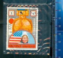 393C/138  JEUX LYMPIQUES SAPPORO 72 OBLTERES AJMAN´ STATE B. COCHRAN U.S.A. - Ajman