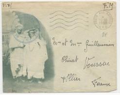 1958 - GUERRE D´ALGERIE - ENVELOPPE FM DECOREE Du SP 87051 - Marcophilie (Lettres)