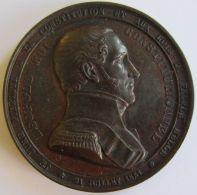 M01904  LEOPOLD - ROI CONSTITUTIONNEL - 1848 -  Son Buste  (58g) - Serment - Lauriers Au Verso - Royal / Of Nobility