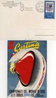 Italia 1960 Cortina Campionati Del Mondo Bob Annullo Bob A Due 1^ Giornata Cartolina - Inverno