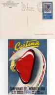 Italia 1960 Cortina Campionati Del Mondo Bob Annullo Bob A Due 2^ Giornata Cartolina - Inverno