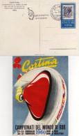 Italia 1960 Cortina Campionati Del Mondo Bob Annullo Bob A Quattro 1^ Giornata Cartolina - Inverno