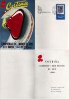 Italia 1960 Cortina Campionati Del Mondo Di Bob Annullo Cerimonia Di Apertura Cartolina - Inverno