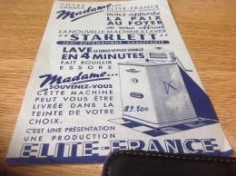 Publicitair Publicite Votre Chance Elite France Machine à Laver Metz Paris - Unclassified