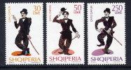 ALBANIA 1999  Charlie Chaplin Set Of 3   MNH / **.  Michel 2696-98A - Albania