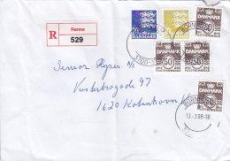 Denmark Registered Einschreiben Label RØNNE Bornholm 1998 Cover Brief - Dänemark