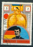393C/118  JEUX LYMPIQUES SAPPORO 72 OBLTERES AJMAN´ STATE  E. KELLER WEST GERMANY - Ajman