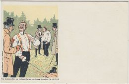 """26581g  OGE - DUEL - """"Un Homme Chic, En Croisant Le Fer Garde Ses Bretelles Ch. GUYOT"""" - Illustrateurs & Photographes"""