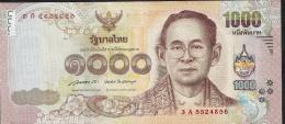 THAILAND P122a 1000 BAHT (2015) FIRST Signature 85   XF-AU - Thailand