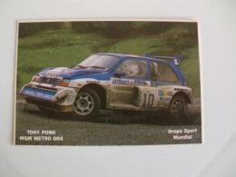 Rally Rali 1986 Tony Pond MGM Metro 6R4 Portugal Portuguese Pocket Calendar 1986 - Klein Formaat: 1981-90
