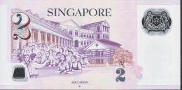 SINGAPORE P46h  2  DOLLARS   2015   UNC. - Singapour