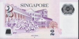 SINGAPORE P46h 2  DOLLARS  2015  1 Hollow Star  UNC. - Singapore