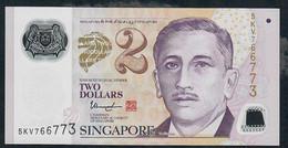 SINGAPORE P46g  2  DOLLARS   2014   UNC. - Singapour