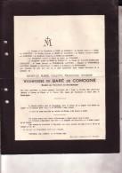 Château De FLERON Isablelle Vicomtesse De BARE De COMOGNE 1854-1924 Faire-part Mortuaire - Décès