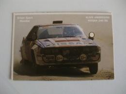 Rally Rali 1986 Alain Ambrosing Nissan 240 RS Portugal Portuguese Pocket Calendar 1986 - Calendriers