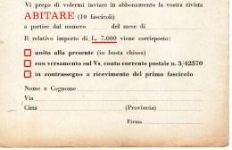 A 4300 -  Giornali Abitare - Italienisch