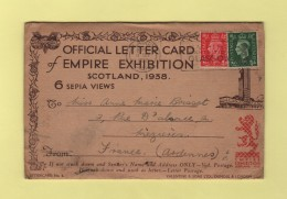 Exposotion De L Empire 1938 - Carte Lettre Officielle Avec 6 Vues - 1902-1951 (Kings)