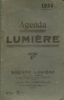 Agenda Lumière 1934 464 Pages Bon Etat - Petit Format : 1921-40