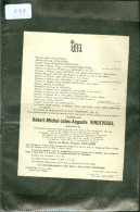 Doodsbrief ( 117 )  Familie  Vindevogel / Moreels / Suys / Gevaert / Colle / Van Cauwenberghe - Waereghem  Waregem 1942 - Todesanzeige