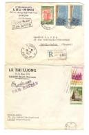 Vietnam 4 Lettres Commerciales Dont 3 Recommandées C.Saigon 1960-61-62 V.Pantin France PR3070 - Viêt-Nam