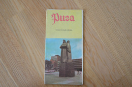 Latvia Soviet Union Period The Riga City Touring Map 1973 - Libros, Revistas, Cómics