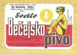 Svetlo Becejsko Pivo   Beer Label From Serbia Yugoslavia Pivara Becej Brewery (out Of Business) - Bier