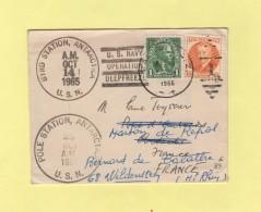Pole Station Antartica 1965 - Byd Station Antartica - US Navy Operation Deppfreeze - Pour Aubenas Reexpediee Wildenstein - Panama