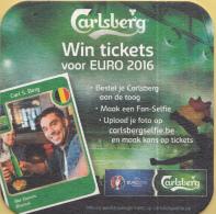 Carlsberg - Win Tickets Voor EURO 2016 - Tweetalig Nederlands/Frans - Bierviltjes