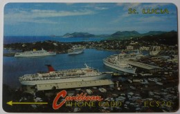 SAINT LUCIA - GPT - 3CSLB - Cruiseline - $20 - STL-3B - Used - Santa Lucía
