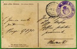 CPA LIBIA LIBYA LIBYE - BENGASI - TIMBRI - 1913 PM BENGASI - DIREZIONE GENIO MILITARE - UNA GIOVANE BEDUINA - Libia