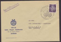 DDR Geithain WSt. Geithainer Emaillewaren Sind Weltbekannt Geschäftspapiere Portogenau 1958,  Kalk, Ziegel Sand - Service