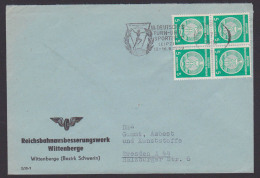 DDR Reichsbahnausbesserungswerk Wittenberge MWSt. III. Deutsches Turn- Und Sportfest Leipzig 1959 Turnerin DTSB - DDR