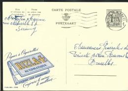 Publibel Obl. N° 1288 ( Papier à Cigarettes RIZ LA +  Angoulême) Obl: Seraing  06/01/1955 - Publibels