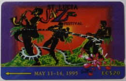 SAINT LUCIA - GPT - 19CSLA - $20 - STL-19A - Jazz Festival 1995 - Used