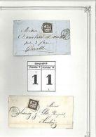 FRANCE COLLECTION TAXE CARRÉE: étude Illustrée Lettres Avec N°2 Type 1 & 2 (61) - Unclassified