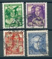 Timbre Suisse 1933 * Pro-Juventute - ZU 65-66-67-68 * Oblitéré - Oblitérés