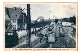 10283   Cpa CAMP D´ ELSENBORN , Kamp , Gare Militaire Et Poste  ! Animée !! 1933 - Elsenborn (camp)