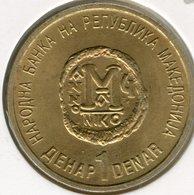 Macédoine Macedonia 1 Denar 2000 2000 Ans De Christianisme UNC KM 9 - Macédoine