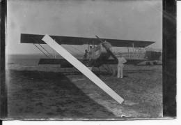 Avion Bréguet XIV Sur Un Terrain D'aviation Avec Pilotes Et Mécaniciens 1 Photo 14-18 1914-1918 Ww1 Wk1 - War, Military