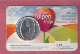 NEDERLAND COINCARD 5 EURO 2012 HET TULPENVIJFJE 400 JAAR NEDERLAND-TURKIJE - Pays-Bas