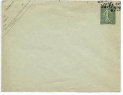 "LRD12 - ENVELOPPE SEMEUSE LIGNÉE 15c 147x112mm DATE 507 DOUBLE SURCHARGE "" TAXE RÉDUITE A 10c"" - Postal Stamped Stationery"