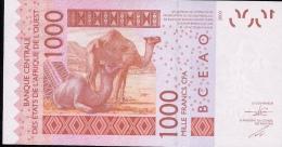 W.A.S. C=BURKINA FASO P315Cd 1000 FRANCS (20)15   UNC. - Burkina Faso