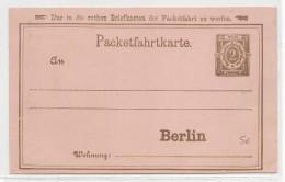 """AVANT 1900 - PRIVATPOST - CARTE ENTIER """"PACKETFAHRT"""" De BERLIN - Private"""