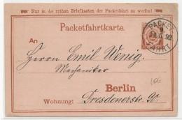 "1892 - PRIVATPOST - CARTE ENTIER ""PACKETFAHRT"" De BERLIN - Private"