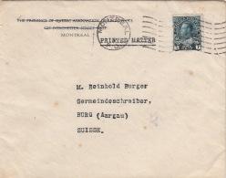 Lettre CaD Montreal Pour La Suisse >> Tarif Imprimé - 1911-1935 Règne De George V