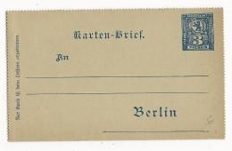 """AVANT 1900 - PRIVATPOST - CARTE-LETTRE ENTIER """"PACKETFAHRT"""" De BERLIN - Private"""