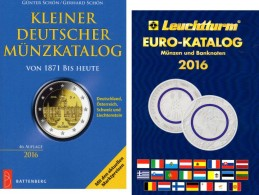 Schön Kleiner Deutschland+Leuchturm EURO-Münzkatalog 2016 New 27€ Coin D 3.Reich Saar Memel Danzig SBZ DDR AM BRD EUROPA - Télécartes