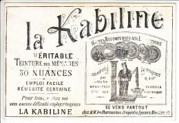 LA KABILINE - TEINTURE - PUBLICITE SUR CARTE ILLUSTREE - Publicités