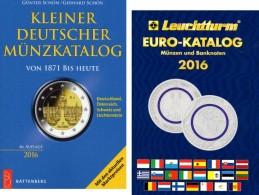 Schön Kleiner Deutschland+Leuchturm EURO-Münzkatalog 2016 New 27€ Coin D 3.Reich Saar Memel Danzig SBZ DDR AM BRD EUROPA - Documentos Antiguos